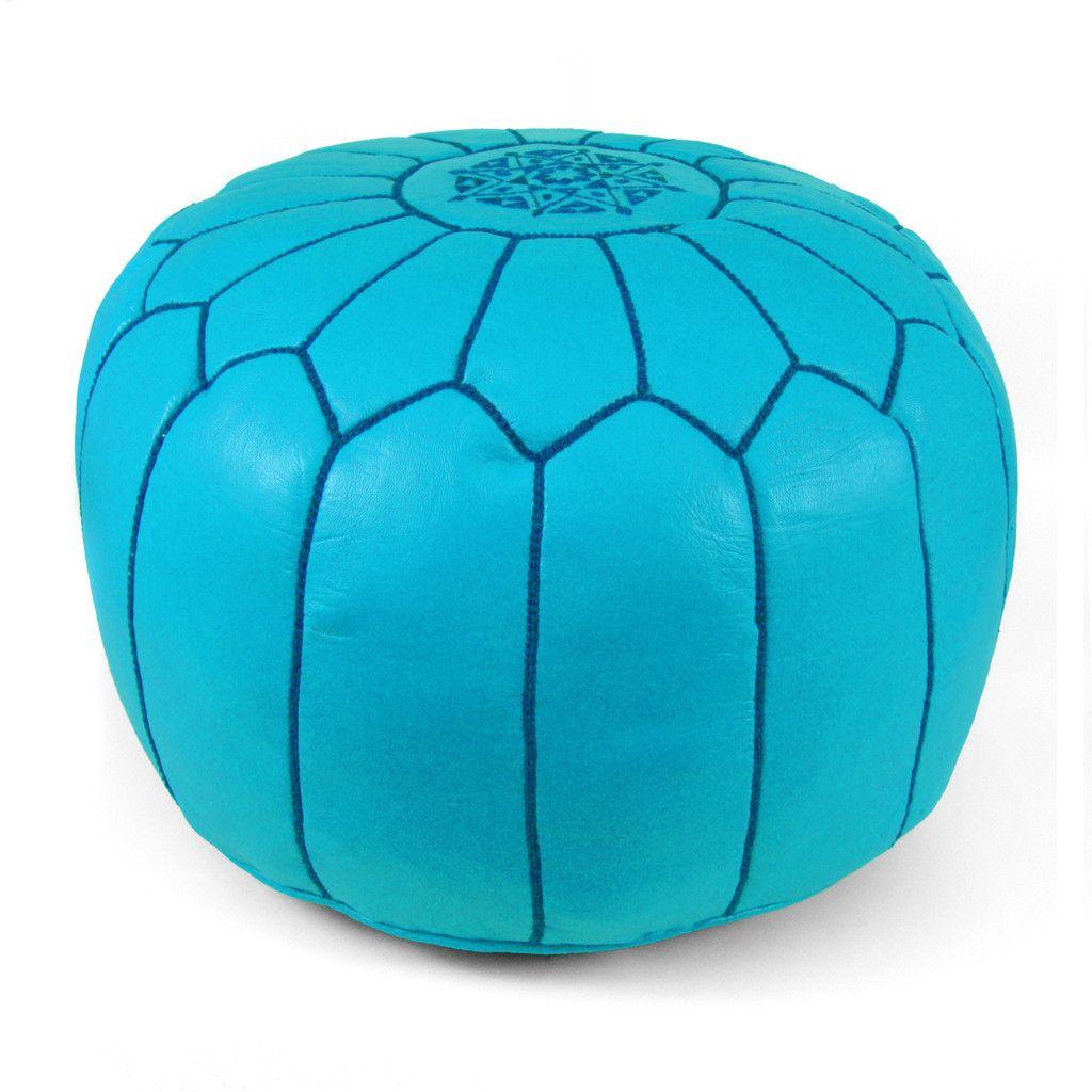 Moroccan Pouf - Ice Blue $175.00 #hattanhome