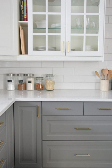 Installing A Subway Tile Backsplash in Our Kitchen - THE SWEETEST DIGS