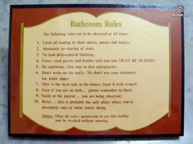 Etiquette Rules | Bathroom Rules and Etiquette Signs