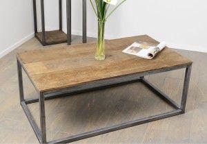 étourdissant table basse bois metal pas cher | décoration