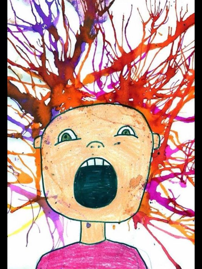 Crazy Hair Day Portraits Using Watercolours And Straws With Images Painting Art Projects Blow Painting Art Kindergarten Art
