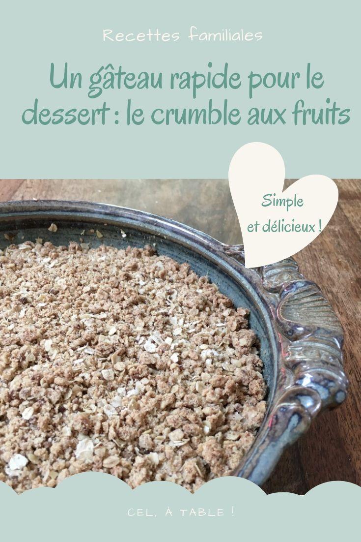 Crumble pommes & fruits rouges variés #dessertfacileetrapide