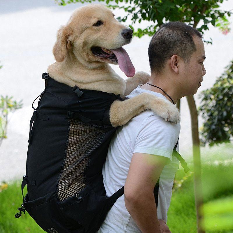 Dropshipping Breathable Pet Dog Carrier Bag Adjustable Big Dog Travel Bags Pet Backpack For Large Dogs G Pet Backpack Carrier Pet Backpack Dog Backpack Carrier