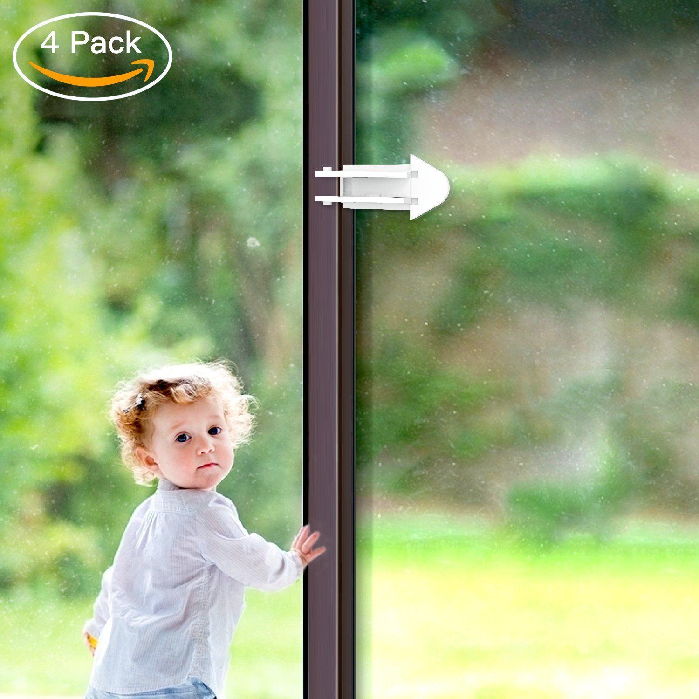 Balfer Sliding Door Locks For Baby Safety 4 Packs Childproof Locks