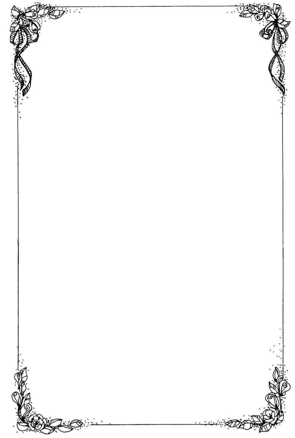 christmas letter border black and white