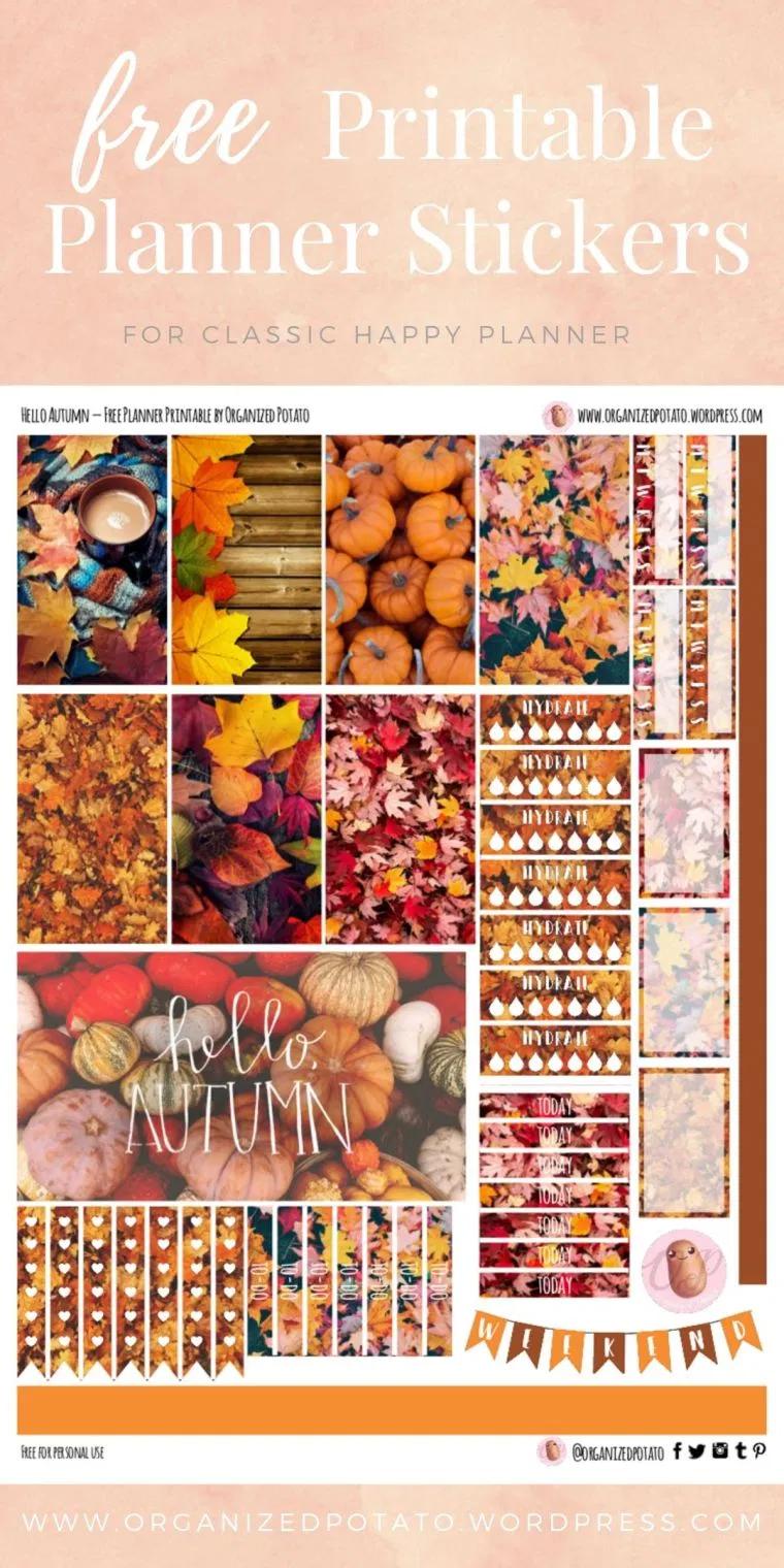 Free Planner Printable: Hello Autumn #helloautumn