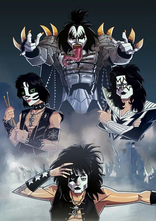 Kiss Kiss Artwork Kiss Art Kiss Rock Bands