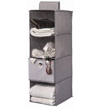 Organizador de tela colgante con 4 compartimentos dise ado para ahorrar espacio en tu armario - Organizador armarios cocina ...