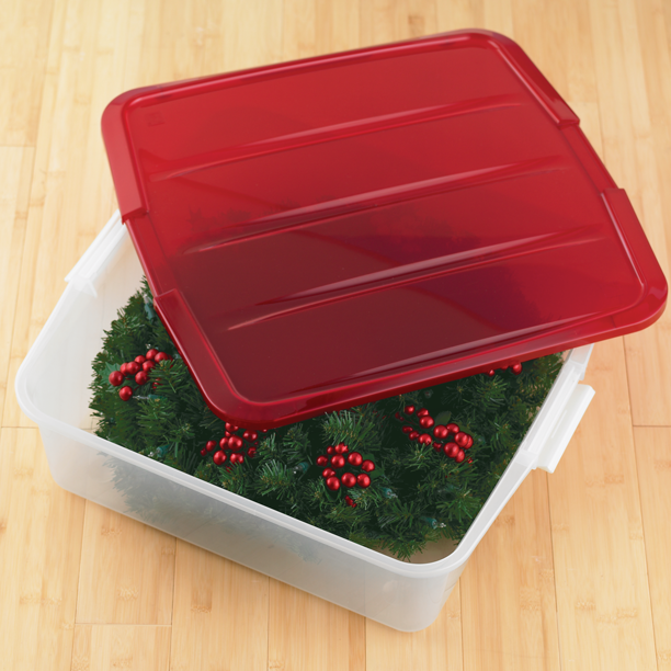 Store And Protect Seasonal And Decorative Wreaths With Our Clear Wreath Box Holiday Storage Wreath Boxes Holiday Organization