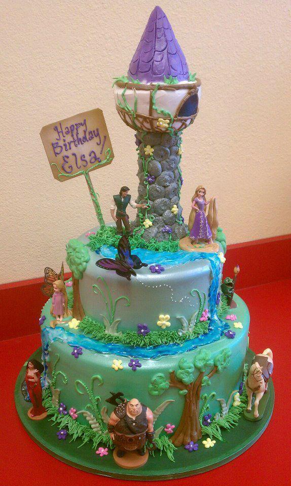Rapunzel Birthday Cake For Girls Kids Birthday Cakes Pinterest