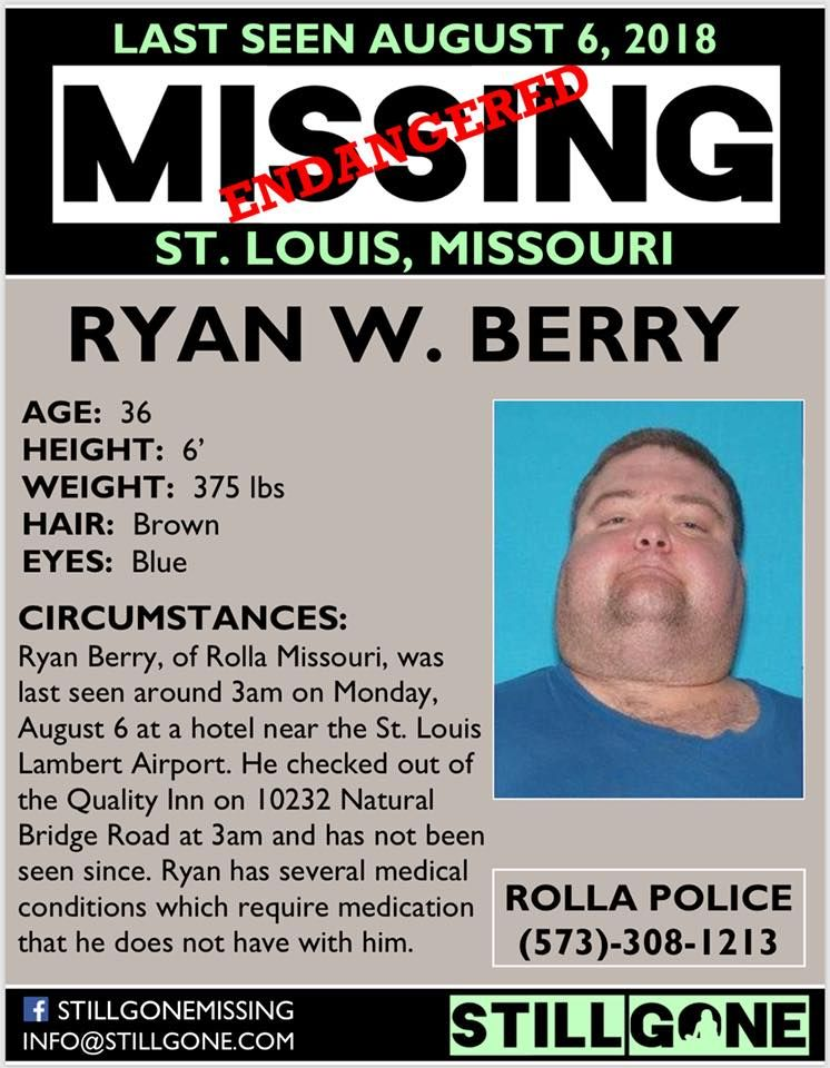 Find Missing Ryan William Berry! Looking for someone