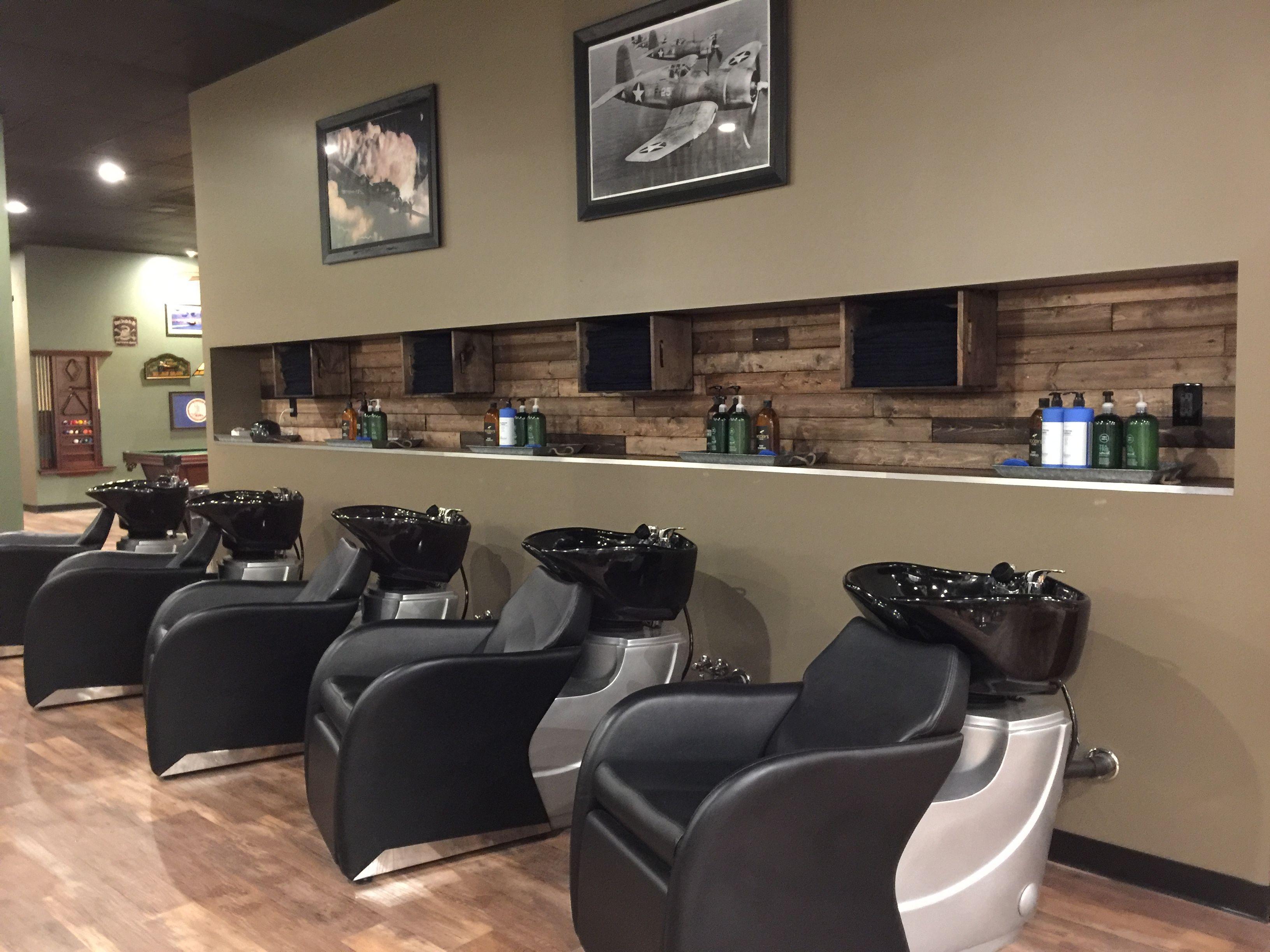 Barber Shop Barber Chairs Salon Shampoo Bowls Spa Room Decor