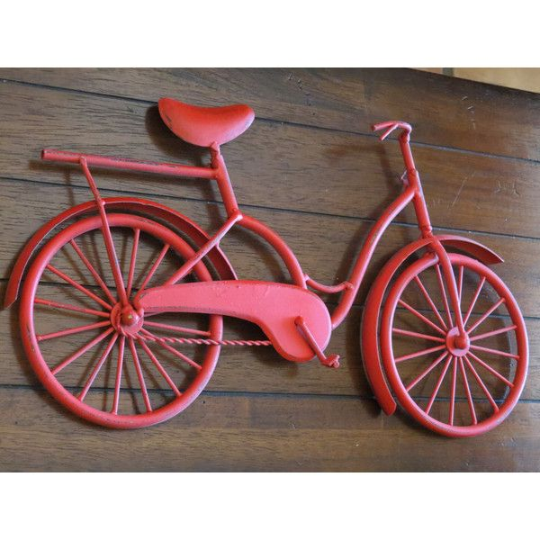 On Today Bike Wall Decor Apple Red or Pick Color Bicycle Metal Wall... ($30) ❤ liked on Polyvore featuring home, home decor, wall art, home & living, home décor, wall décor, wall hangings, white, bicycle home decor and red home accessories