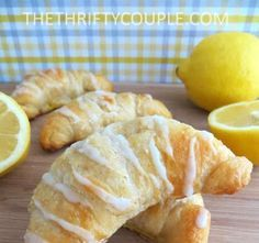 These Lemon Cheesecake Crescent Rolls with Lemon Glaze are a creamy, tangy, sweet cheesy treat any time of day.
