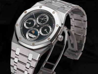 Finish off your black tie look with this amazing Audemars Piguet watch! This twenty thousand dollar timepiece is sure to turn heads!