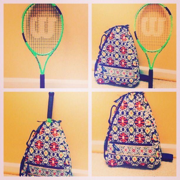 Vera Bradley Tennis Bag Green Wilson Racket Love
