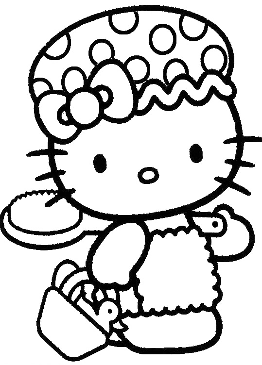 Hello Kitty Cool And Cute Coloring Page Hello Kitty Coloring