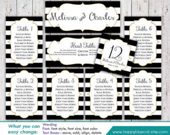 DiY Printable Wedding Seating Chart Template - Instant Download ...