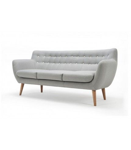 Anne 3 Seater Sofa Stella Light Grey Oak Legs 3 Seater Sofa Sofa Seater