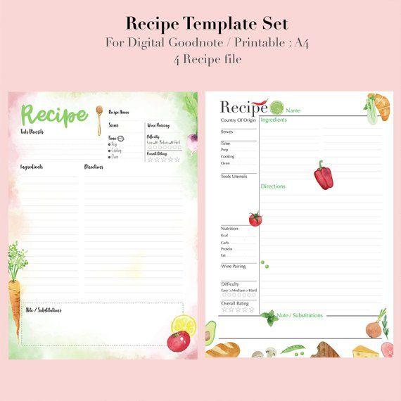 Homemade Recipe Book Template from i.pinimg.com
