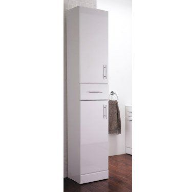 1900 Mm Tall White Gloss Storage Unit Modern Bathroom Cabinet 120