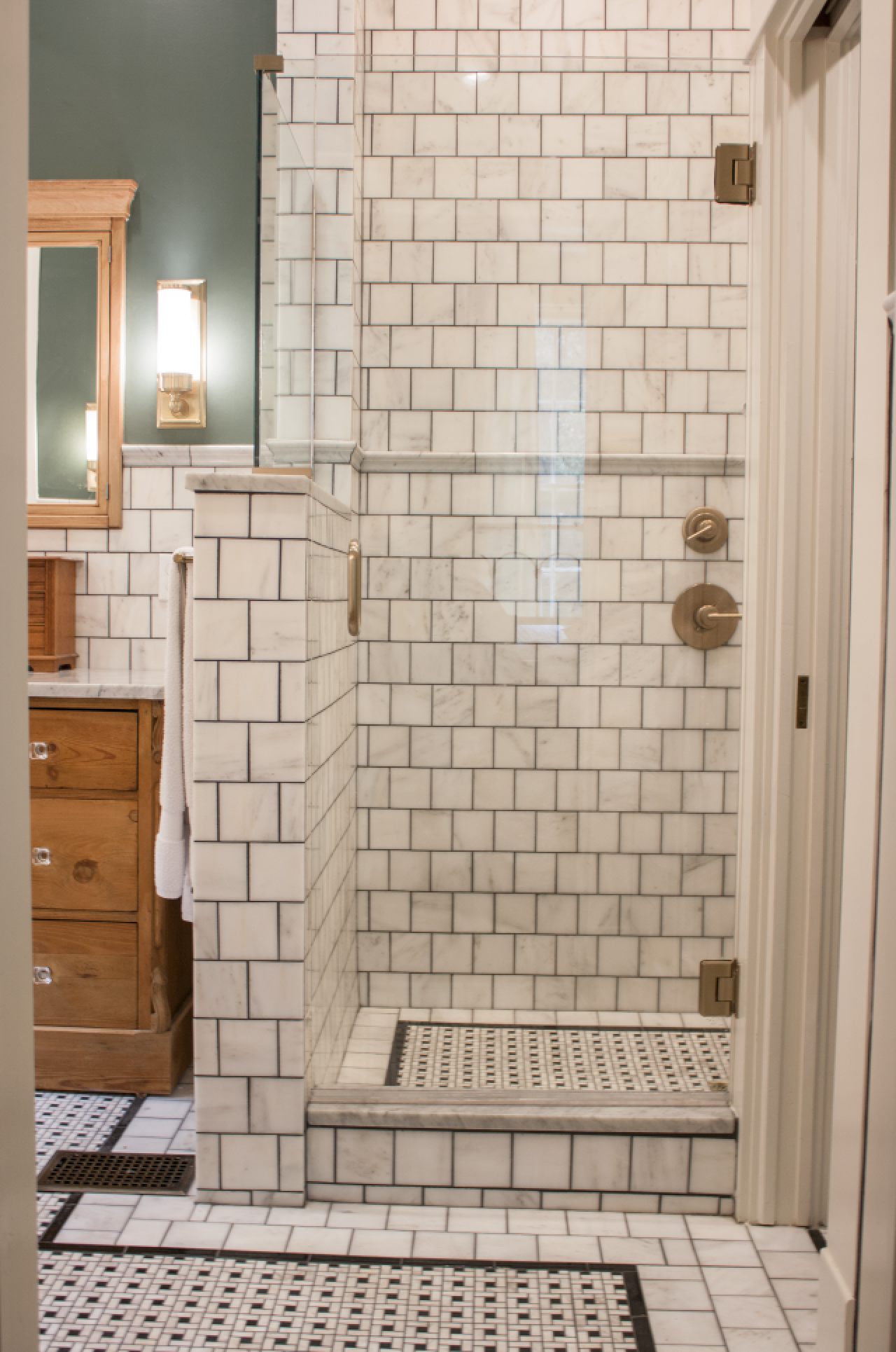 2,848 The New Bathroom. | Grey marble tile, Erin napier and Plumbing ...