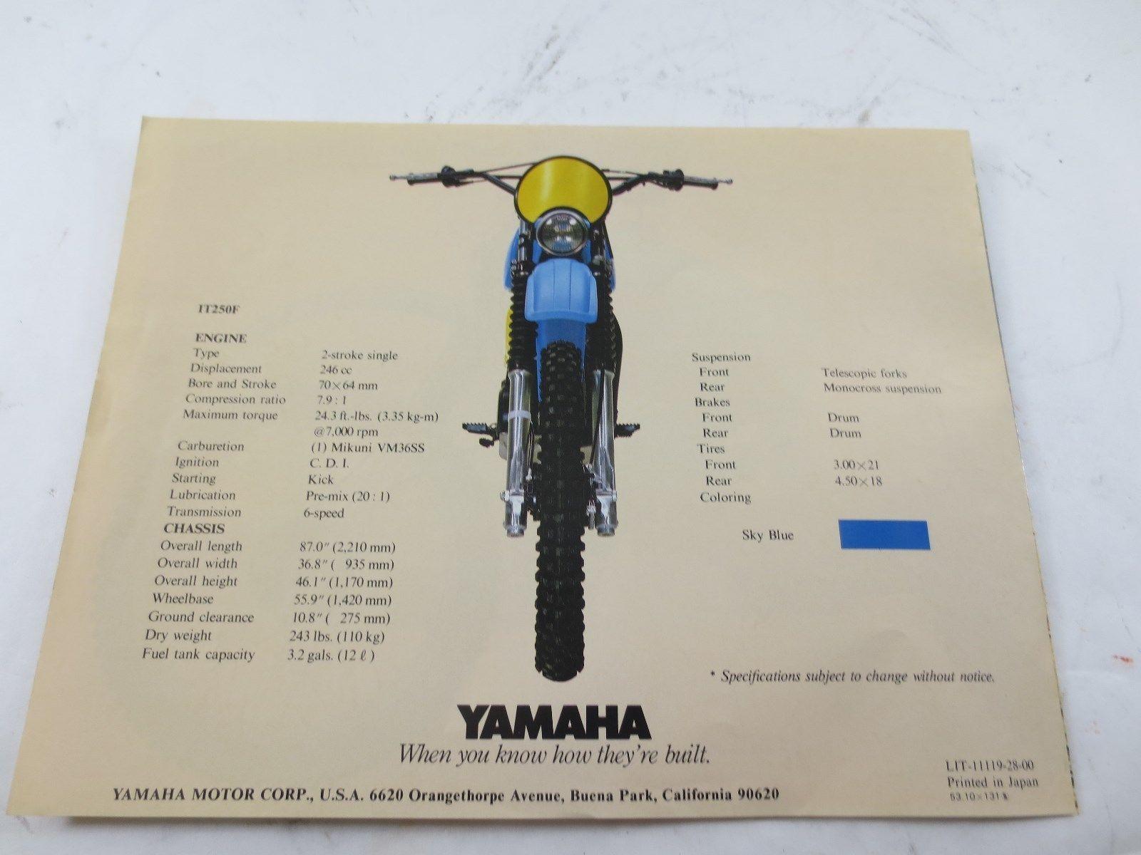 Yamaha It Sales Brochure  Ebay  Yamaha It