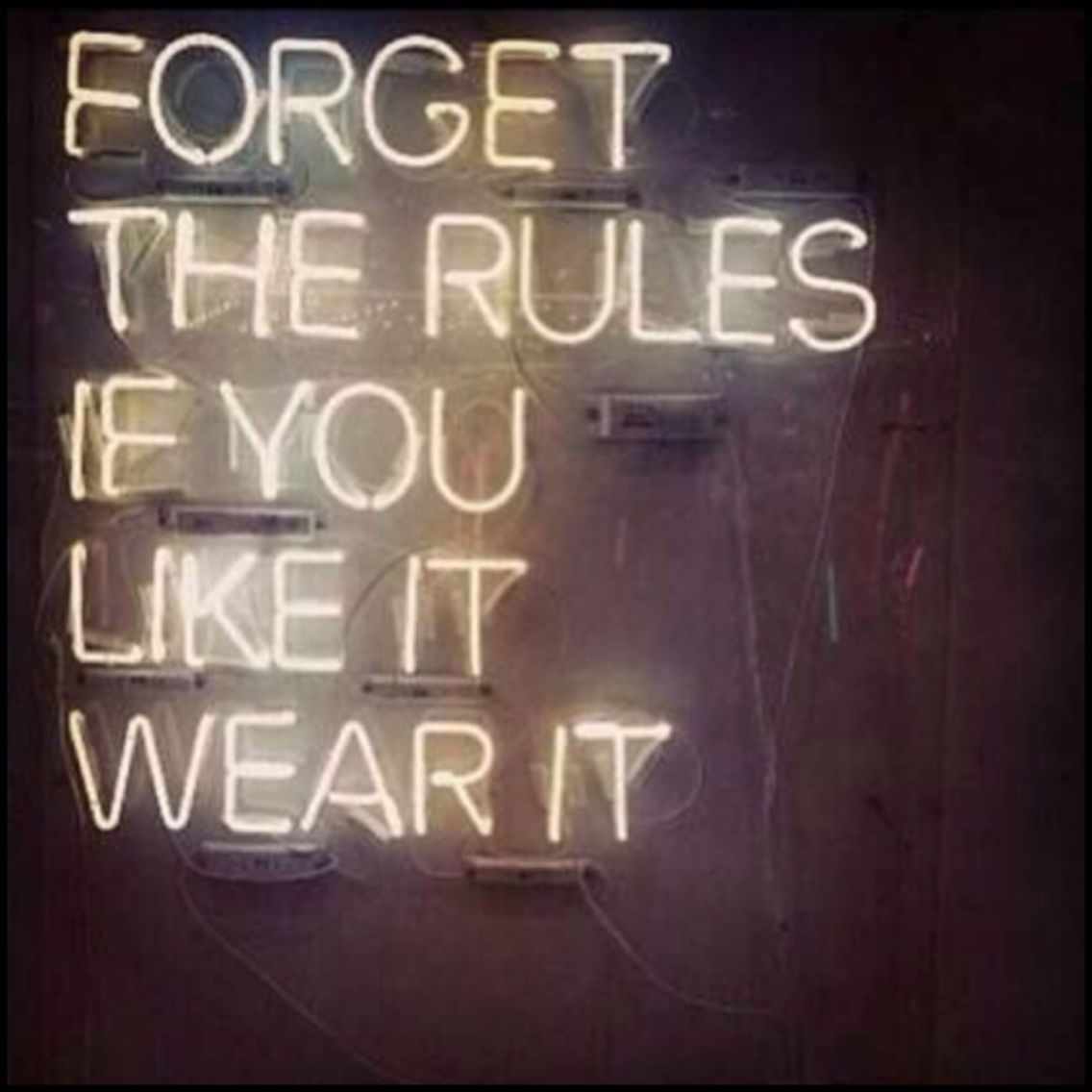 Put it on and look damn good while wearing it. Screw the rules!