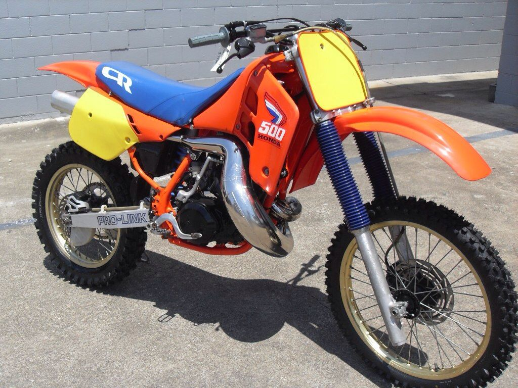 1987 Honda Cr500r This One Was For Sale For Au 10 000 At Ddr Motorcycles In Brisbane Qld Australia A Year Or Two Ago Motocross Bikes Vintage Motocross Bike