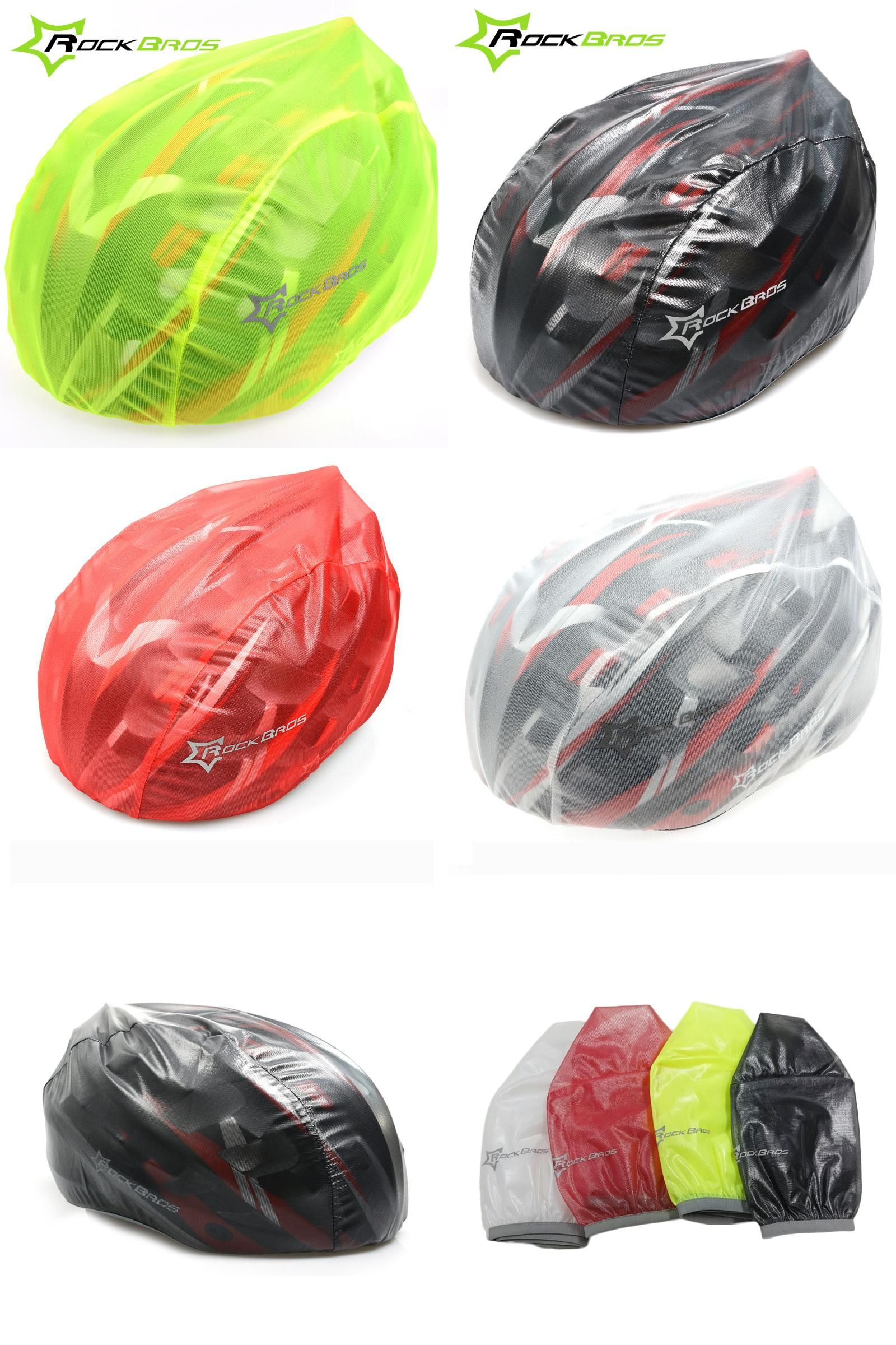 RockBros Black Dust Rain Cover for Bicycle Cycling Helmet One Size