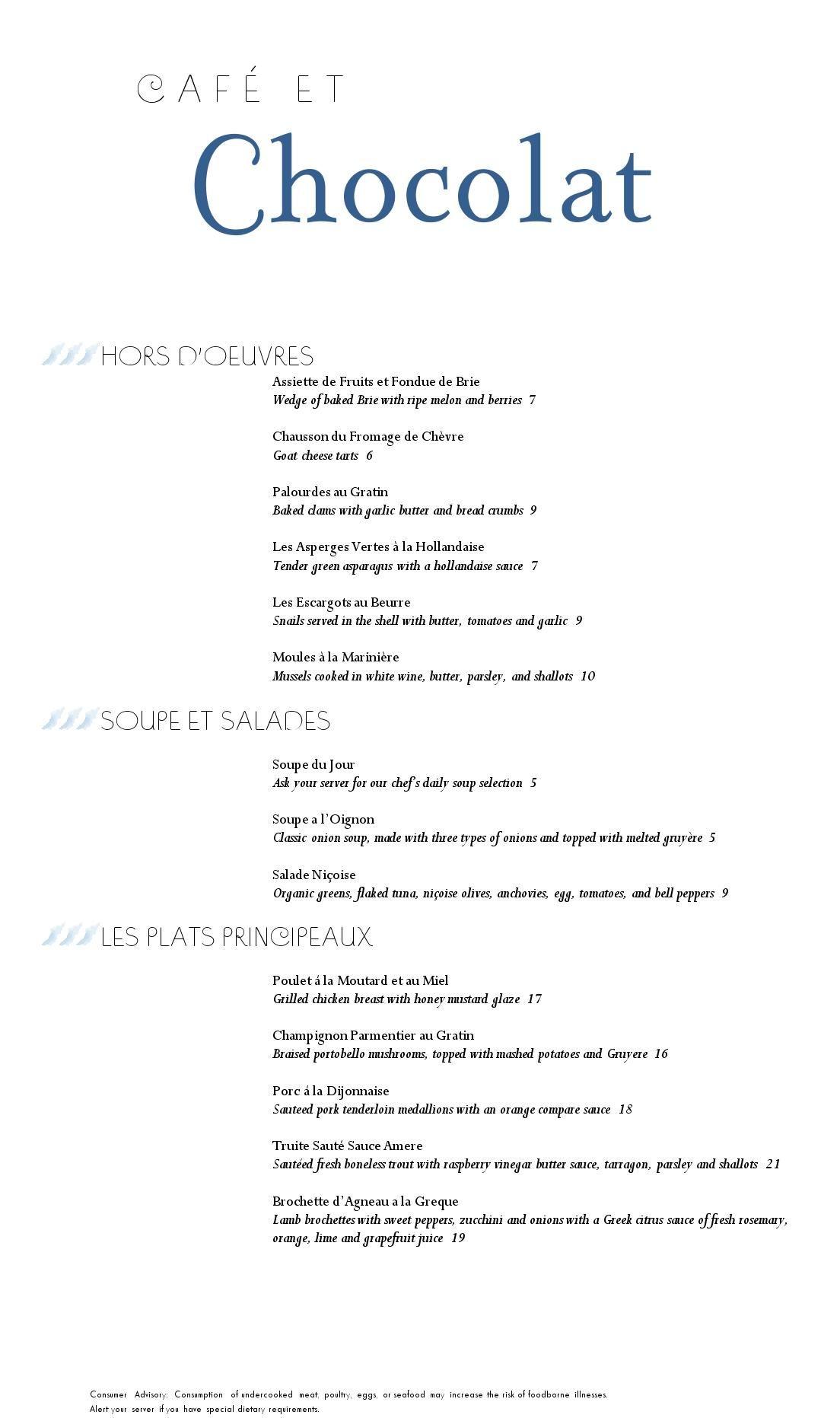 Sample French Menu - MustHaveMenus | Grafisk design | Pinterest