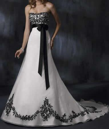 Pin By Trisha Dillard On Wedding Gothic Wedding Dress Black White Wedding Dress Black Wedding Dresses