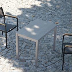 Quadrat Hpl Tisch Gestell Alu Zementoptik50x80 Jan Kurtz #outdoorpatiodecorating