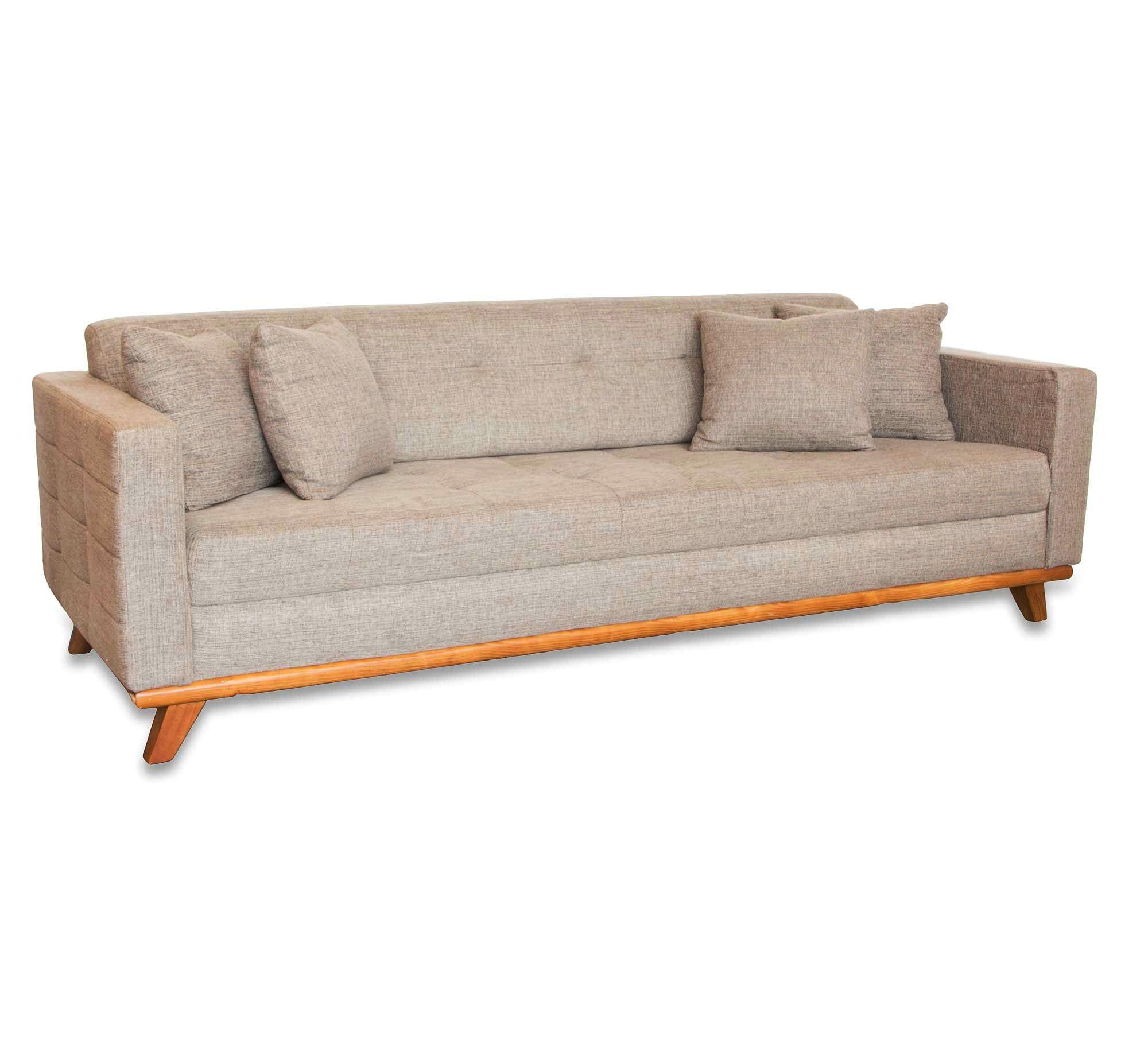 Sofa 3 lugares baroli linho etna wohnung brasilien for Sofa cama vintage
