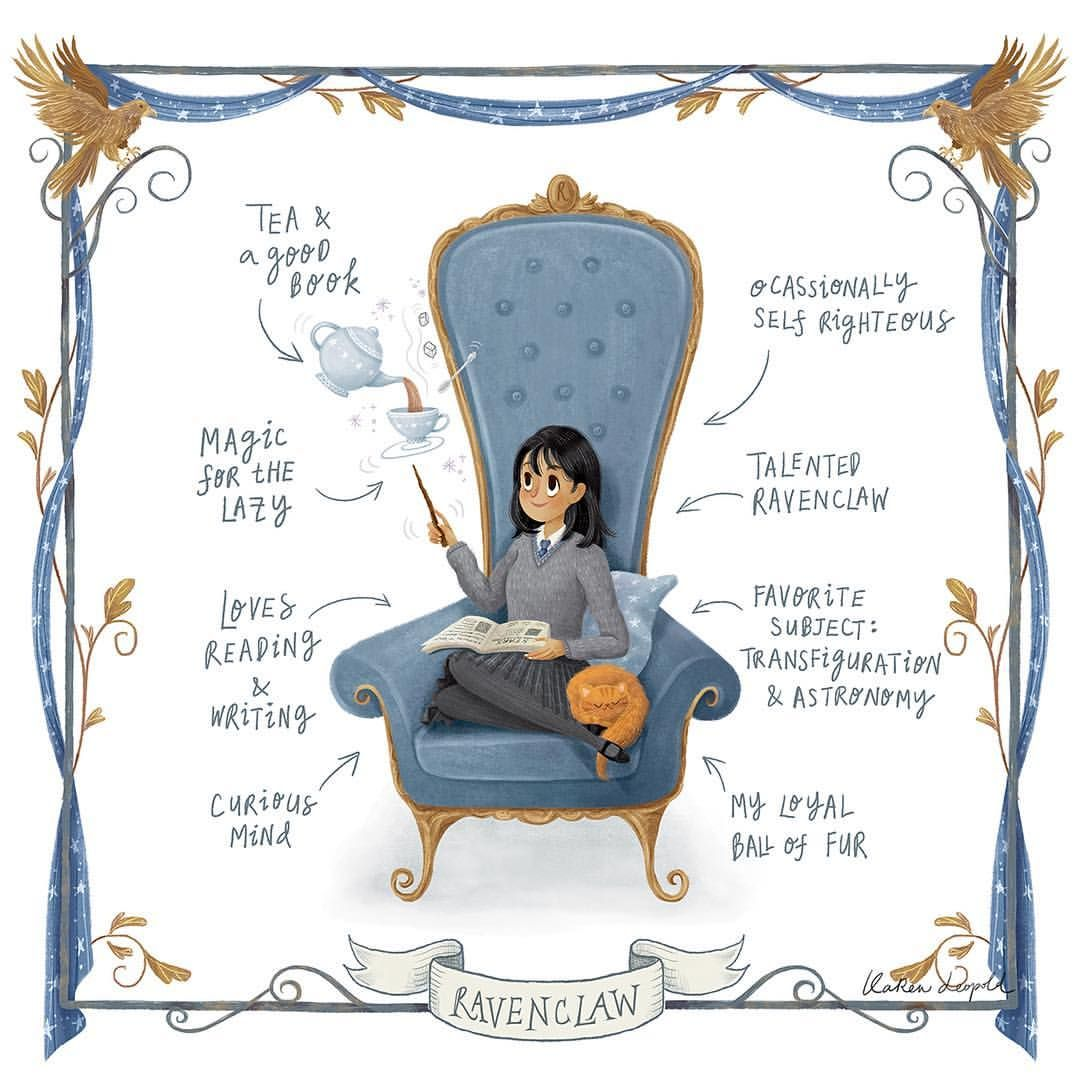 Akshi A Smart Ravenclaw Sure Does Know How To Apply Charm Spells In Her Life Tea Anyone Ha Harry Potter Drawings Ravenclaw Harry Potter Ravenclaw