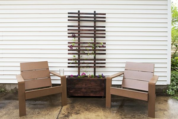 pflanzkasten mit rankgitter interessante exterieur l sungen outside pinterest. Black Bedroom Furniture Sets. Home Design Ideas