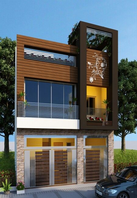 Sai Mohan Row House - Planning by me | Facade house, House ...