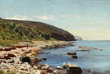 J. U. Bredsdorff: View of Kullen. Signed J. U. Bredsdorff 188?. Oil on canvas. 33 x 48 cm.