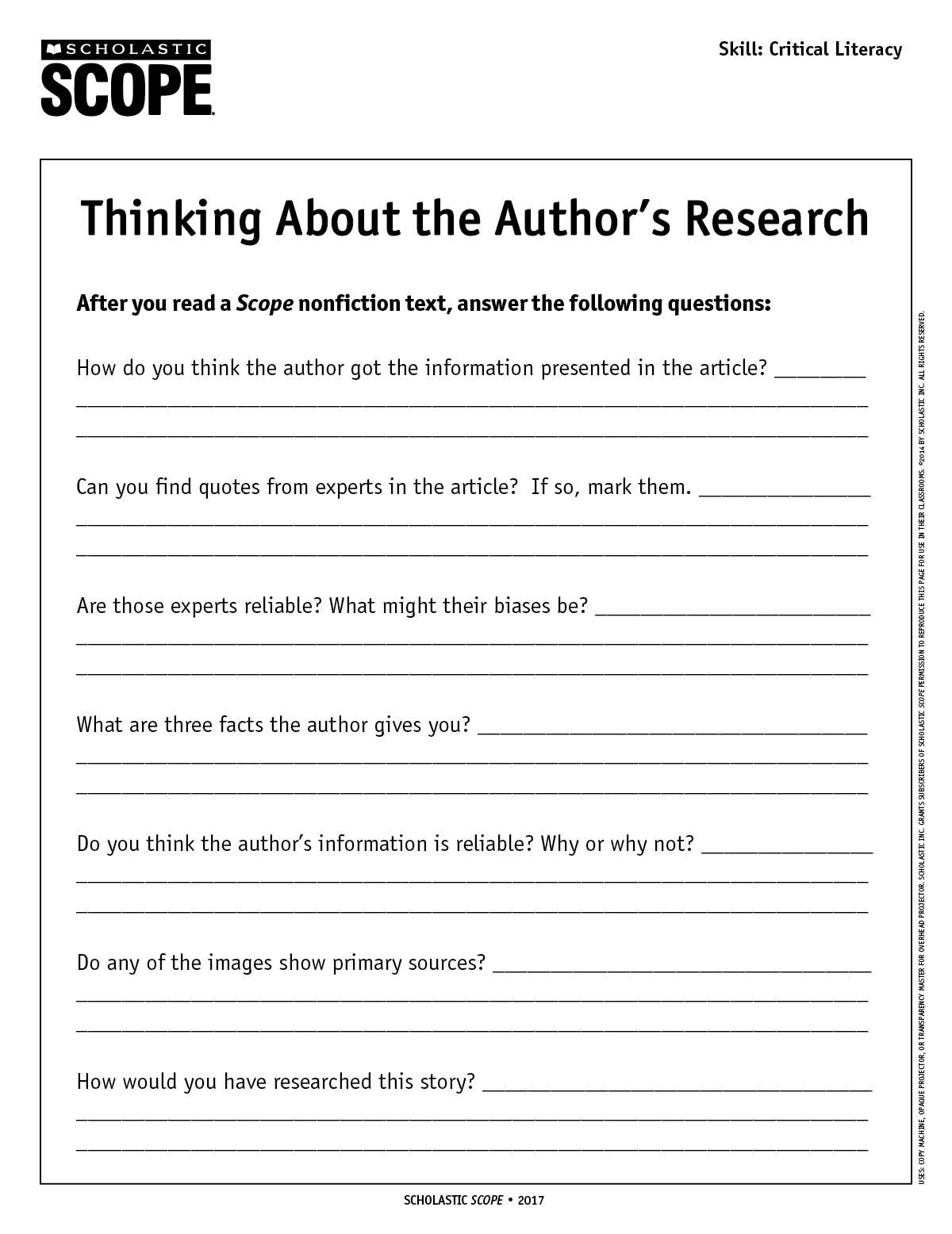 Get Your Middle School Students Thinking Critically About