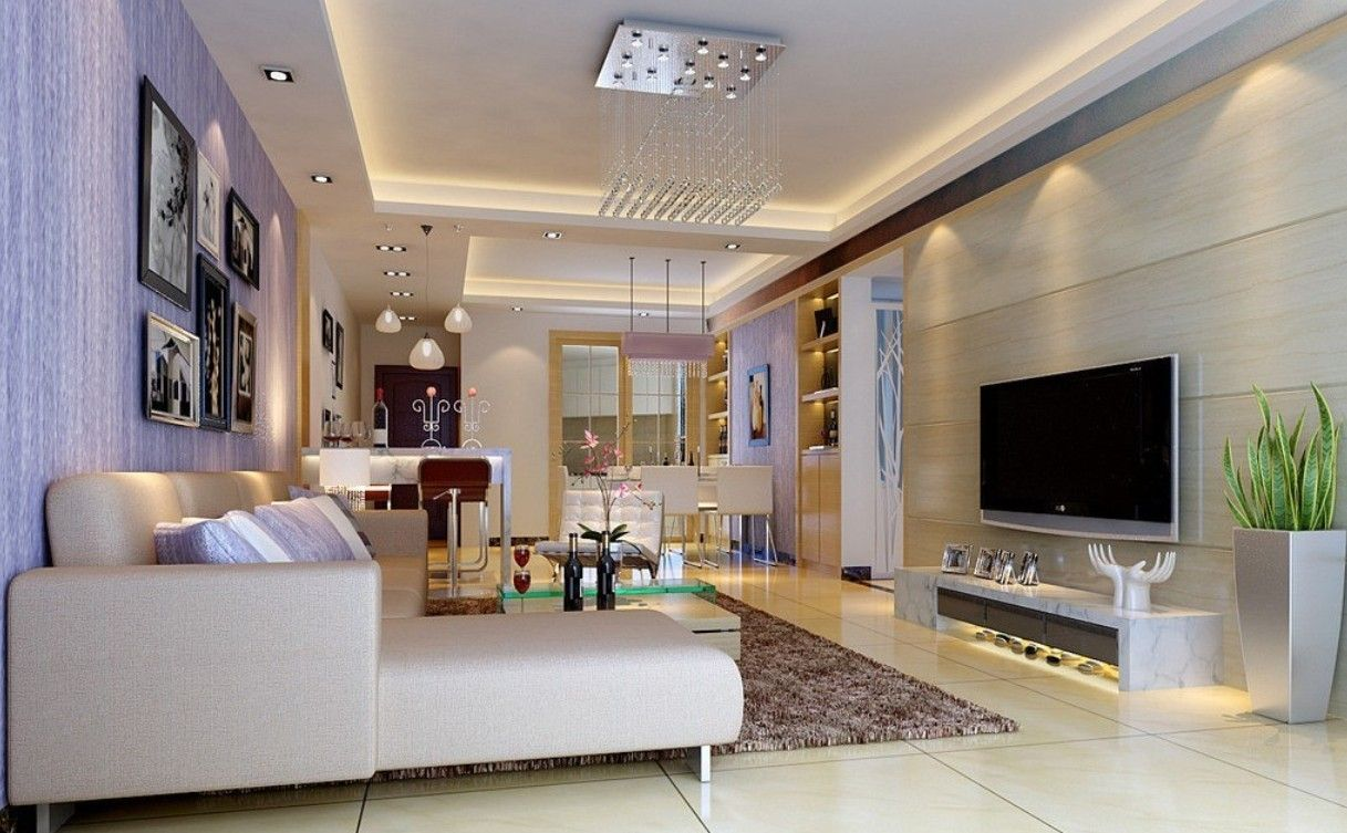 Wall lighting for open plan living area
