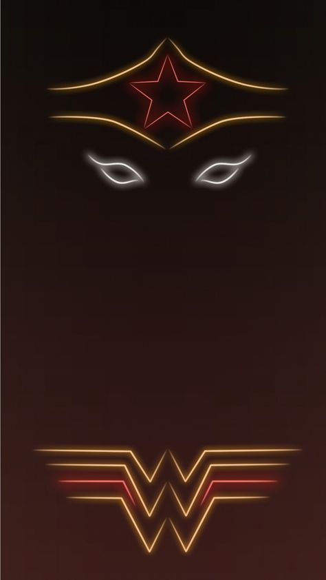 Wonder Woman Tap To See More Superheroes Glow With Neon Light Apple Iphone 6s Plus Hd Wallpapers Backgrounds Superhero Background Wonder Woman Logo Superhero
