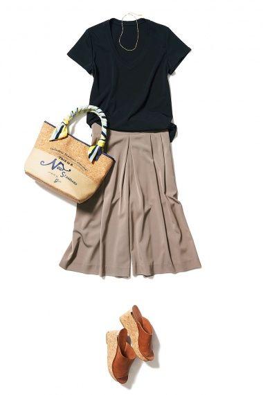 美ラインテーパードパンツで叶える大人マリン&知的サファリルック ― A-ファッションコーディネート通販|ビストロ フラワーズ トウキョウ