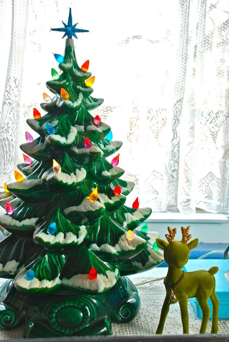 Ceramic Christmas Tree - my grandma made these. I have several white ...