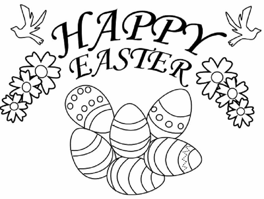 happy easter coloring pages to print - Free Printable Easter Coloring Pages For Kids