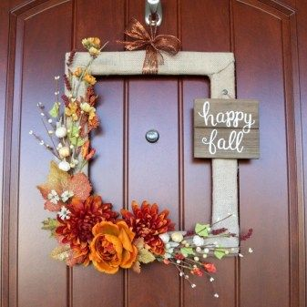 Diy Front Door Wreaths Easy To Make Fresh Fall Decor Easy Autumn