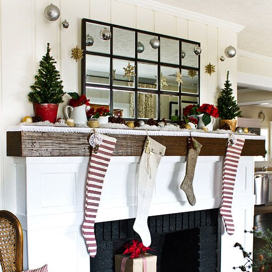 6 Rustic Decor Ideas To Turn Your Bathroom Around: 41 Pretty Ways To Decorate Your Mantel For Christmas (With
