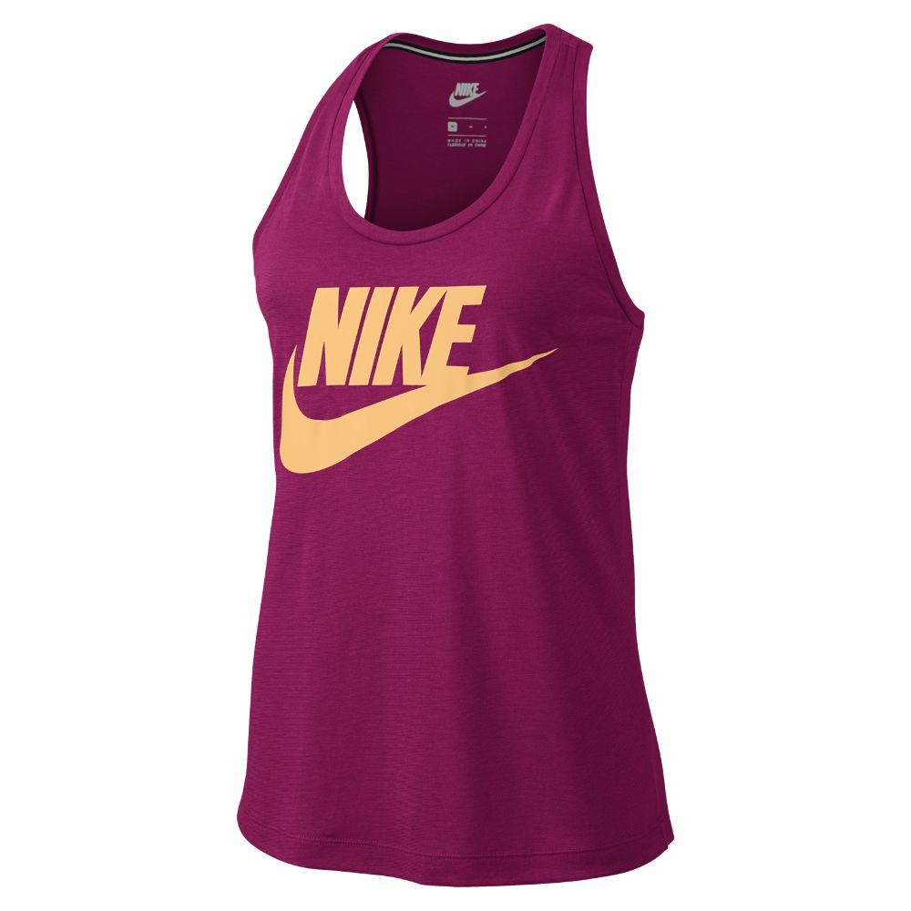 Nike Sportswear Essential Women's Logo Tank Tops Sport Fuchsia/Melon Tint