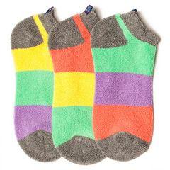Girls' Socks | Pastel Colorblock Reverse Terry Liner Socks