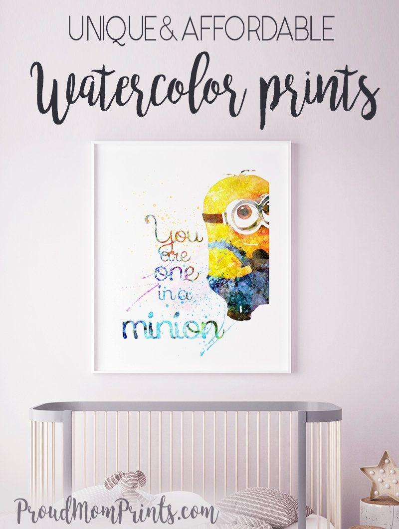 Despicable Me Art Print Poster Minions Wall Art Nursery Printable