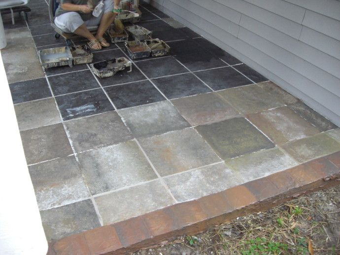 Attirant Outdoor Patio Tile Over Concrete